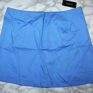 NWT Womens Express Mini Skirt Stretch Periwinkle